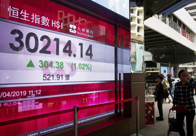 Asian shares mixed after lackluster Wall Street session