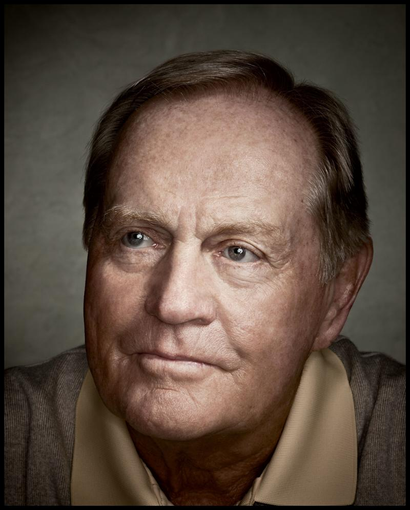 Nicklaus posing for Golf Digest for his 70th birthday in 2010.