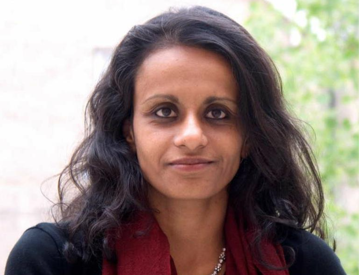 """Dr Priyamvada Gopal sparked a backlash after tweeting: """"White Lives Don't Matter"""". (Churchill College Cambridge)"""