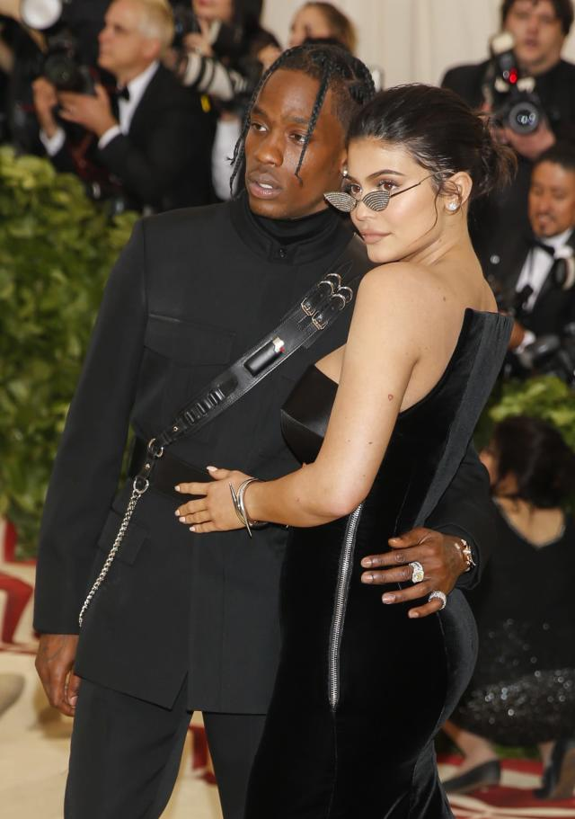 Kylie Jenner and Travis Scott at the Met Gala in New York City. (Photo: Carlo Allegri/Reuters)