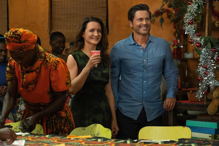 """<p>Katie's (Kristin Davis's) husband leaves her just before their big second-honeymoon trip to Africa—so she goes on safari alone. In true rom-com style, she meets a handsome stranger (Rob Lowe) and they…save an elephant together and maybe fall in love? This is just the kind of nonsensical drama we all need, no matter what time of year it is. <a href=""""https://www.glamour.com/story/kristin-davis-netflix-movie-holiday-in-the-wild-review?mbid=synd_yahoo_rss"""" rel=""""nofollow noopener"""" target=""""_blank"""" data-ylk=""""slk:Sign me up."""" class=""""link rapid-noclick-resp"""">Sign me up.</a> </p> <p><a href=""""https://www.netflix.com/title/80231468"""" rel=""""nofollow noopener"""" target=""""_blank"""" data-ylk=""""slk:Available to stream on Netflix"""" class=""""link rapid-noclick-resp""""><em>Available to stream on Netflix</em></a></p>"""