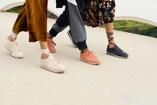The new light-brown, blush, and gray sneaker colors from Cortez by A.L.C. (Photo: courtesy of Danielle Levitt/A.L.C.)