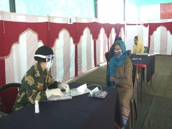 BSF organised a free medical camp in the Poonch district, Jammu and Kashmir (Photo/ANI)