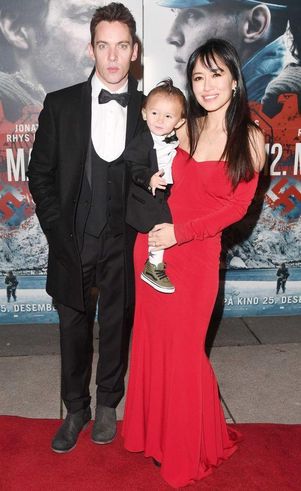 Jonathan Rhys Meyers with wife Mara Lane and son Wolf