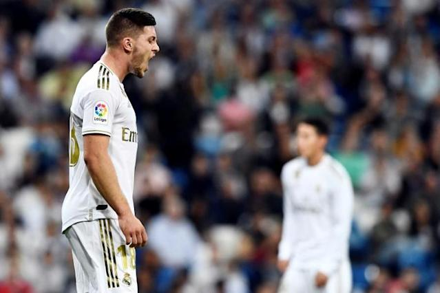 Zinedine Zidane may have expected more from the players he brought in against Real Mallorca, but Isco, Luka Jovic (picture) and Vinicius Junior were all taken off in the second half (AFP Photo/OSCAR DEL POZO)