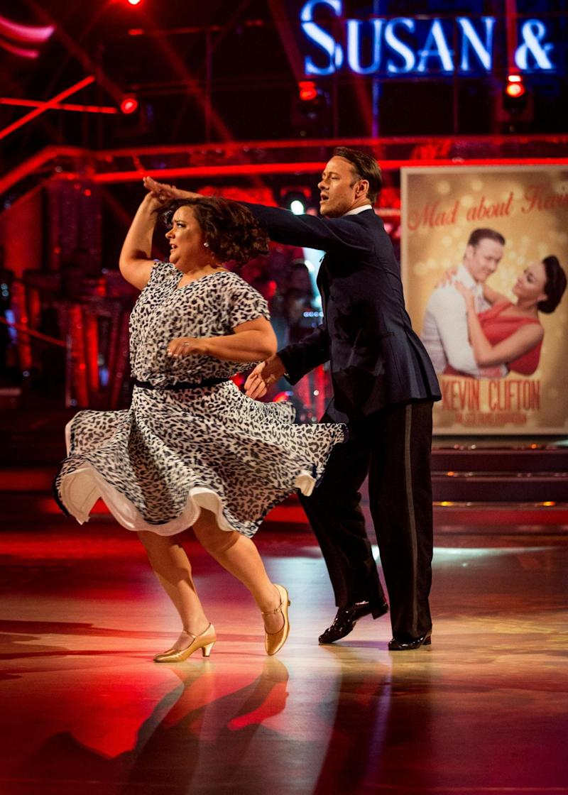 British star: Professional Kevin Clifton with Susan Calman last series (PA)