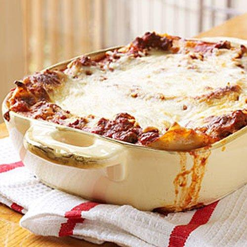 """<p><strong>Recipe:</strong> <strong><a href=""""https://www.southernliving.com/recipes/extra-easy-lasagna"""">Extra-Easy Lasagna</a></strong></p> <p> This easy, cheesy lasagna will keep everyone happy (and you'll love having leftovers). </p>"""