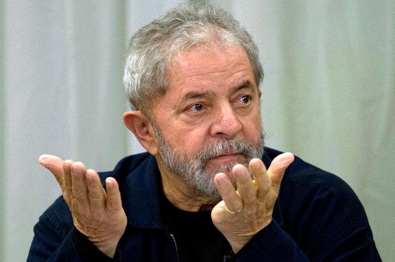 Brazilian prosecutors announced a probe into alleged influence peddling by former president Luiz Inacio Lula da Silva (pictured) on behalf of scandal-ridden construction giant Odebrecht (AFP Photo/Nelson Almeida)