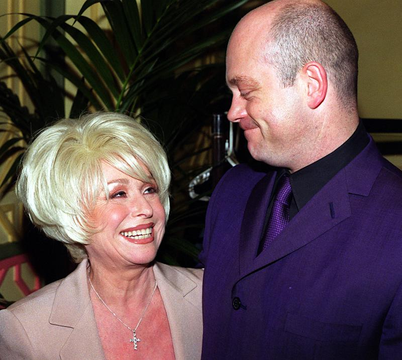 Actress and television personality Barbara Windsor with actor Ross Kemp, at The Dorchester Hotel, London, for a Variety Club lunch in her honour.