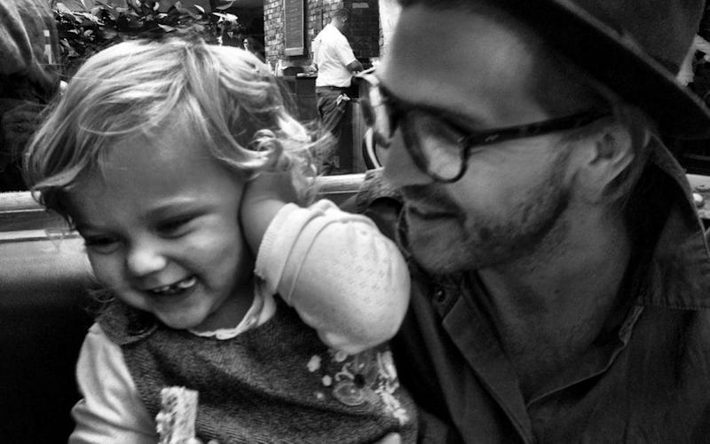 Matthew Fearon and his daughter