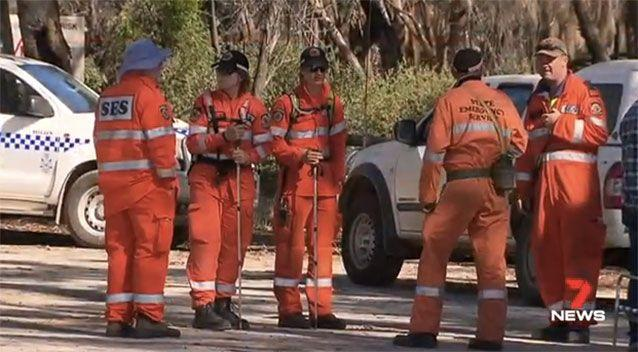 Mr Howell could see rescuers but was too far away to signal for help. Picture: 7 News