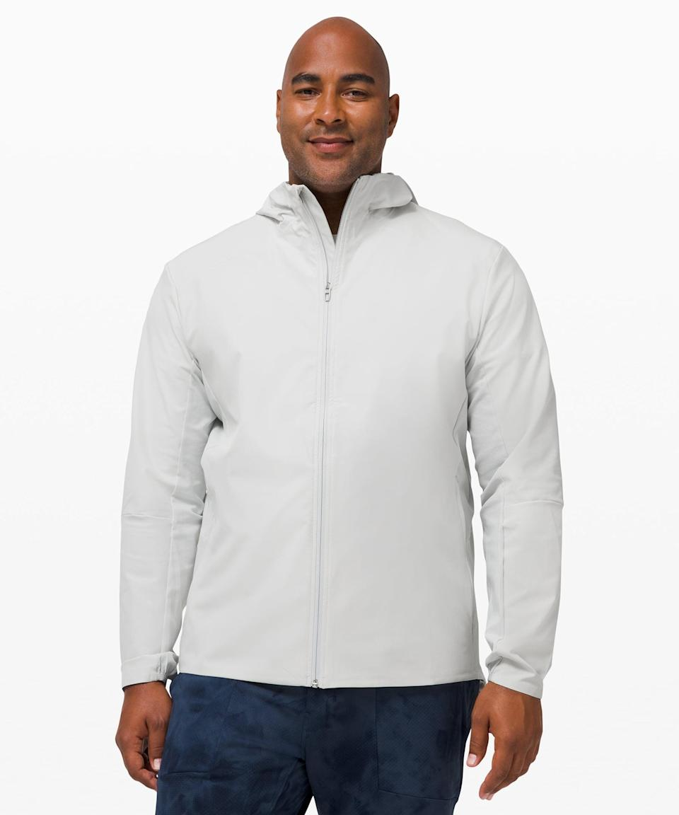 <p>This packable <span>Lululemon Warp Lite Jacket</span> ($148) is great to move in, but also keeps them warm and cozy.</p>