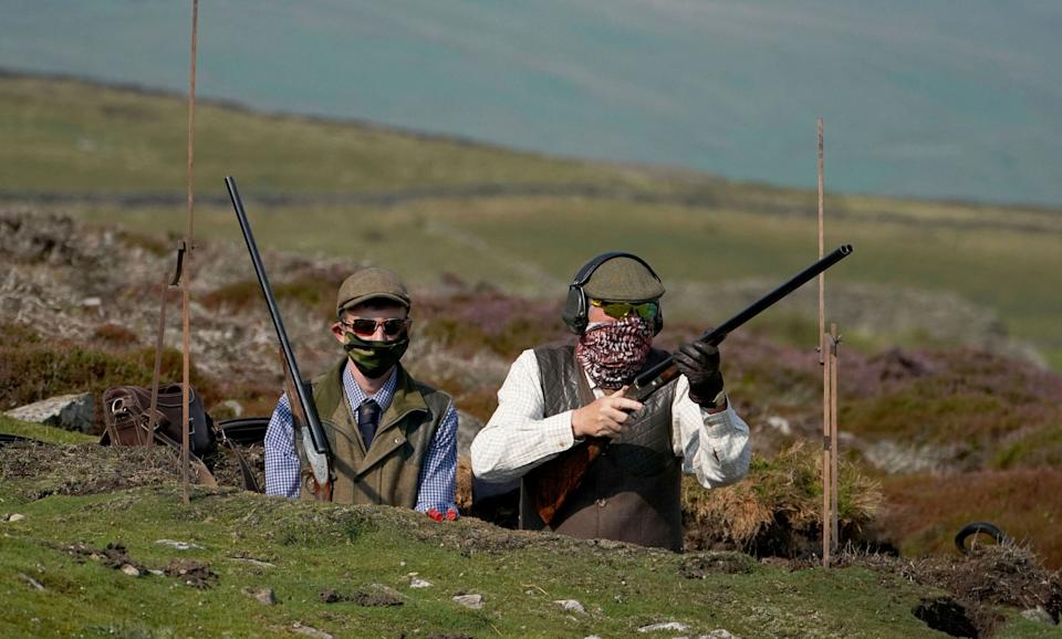 Members of a shooting party as the Glorious 12th, the official start of the grouse shooting season, gets underway (Photo: )