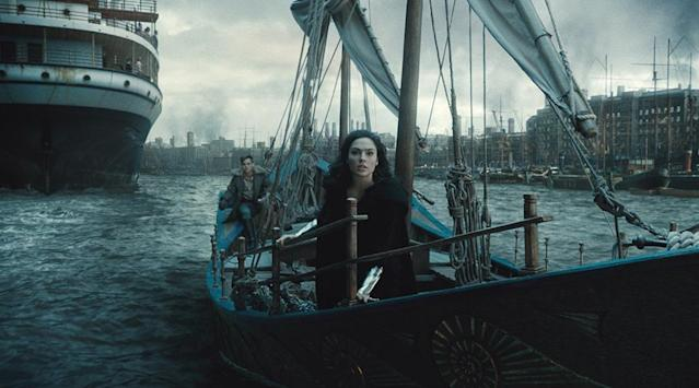 <p>Diana and Steve leave the postcard-perfect Paradise Island to the grim London of World War I; Steve, to stop the Germans; Diana, to confront the god of war, Ares, whose might has increased thanks to the Great War. (Photo: Warner Bros.) </p>