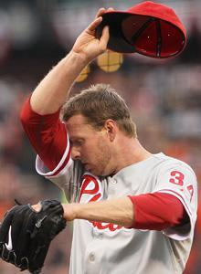Roy Halladay fought through a groin injury to help the Phillies stay alive in the NLCS