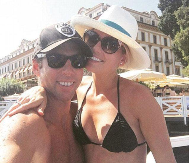 Grant Hackett's public breakdown may have been triggered by a messy breakup with Maggie Keating (pictured on an Italy trip in August last year), friends say. Picture: Instagram
