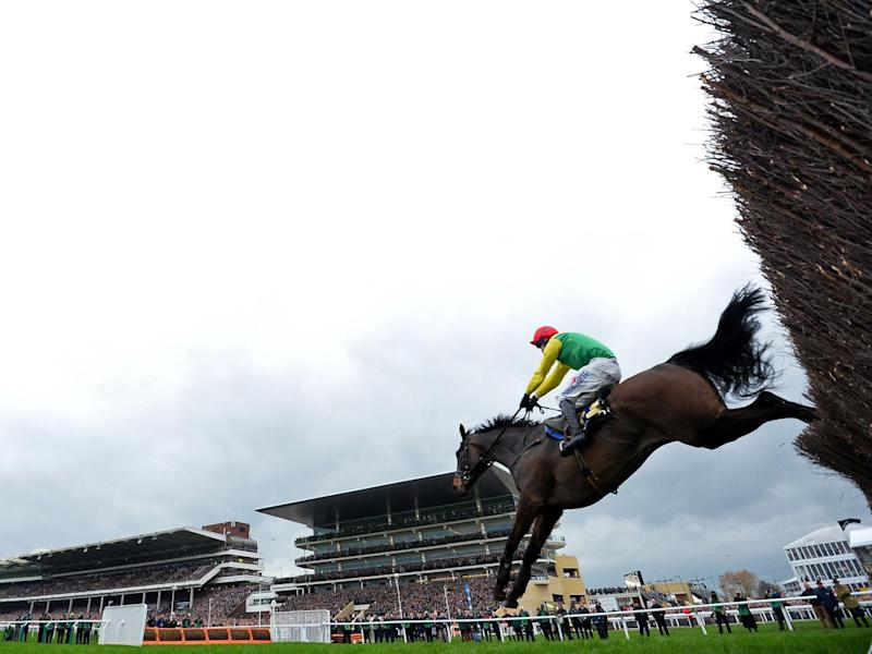 Sizing John jumps the final hurdle on his way to victory (Getty)
