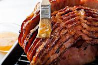"""<p>If you don't want to bother with juicing a bunch of citrus and measuring out sugar, this easy orange glazed ham uses a super simple swap: orange marmalade.</p> <p><a href=""""https://www.thedailymeal.com/recipes/orange-glazed-ham-recipe-1?referrer=yahoo&category=beauty_food&include_utm=1&utm_medium=referral&utm_source=yahoo&utm_campaign=feed"""" rel=""""nofollow noopener"""" target=""""_blank"""" data-ylk=""""slk:For the Orange Glazed Ham recipe, click here."""" class=""""link rapid-noclick-resp"""">For the Orange Glazed Ham recipe, click here.</a></p>"""
