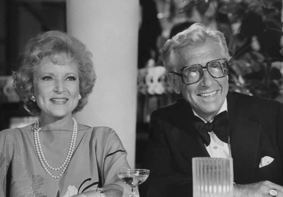 """<p>After nearly 20 years of marriage, Betty said goodbye to her husband in 1981. The game show host <a href=""""https://www.closerweekly.com/posts/betty-white-marriage-allen-ludden-147362/"""" rel=""""nofollow noopener"""" target=""""_blank"""" data-ylk=""""slk:passed away at the age of 63"""" class=""""link rapid-noclick-resp"""">passed away at the age of 63</a> after being diagnosed with stomach cancer. </p>"""