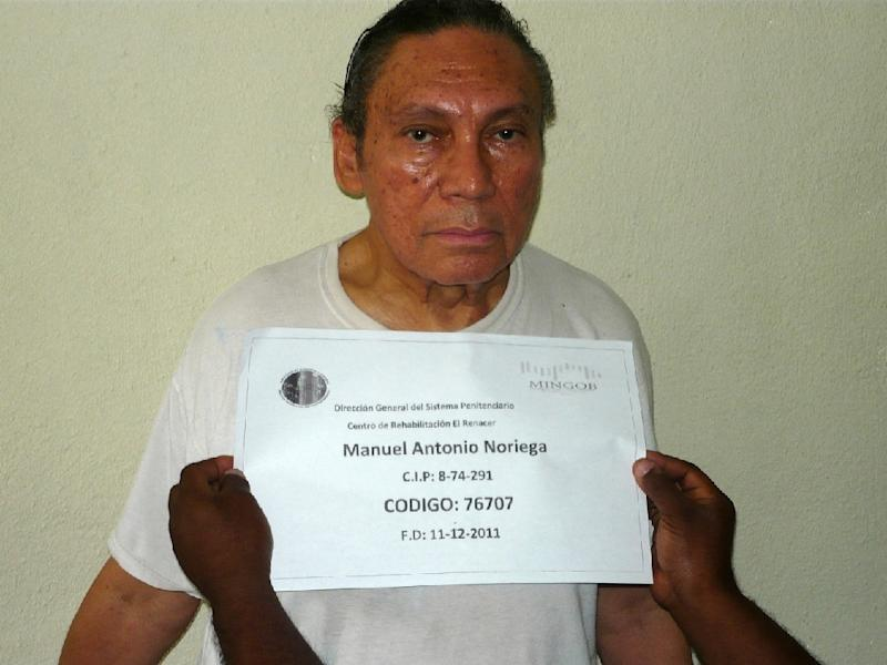 Former Panamanian dictator Manuel Noriega pictured at El Renacer penitentiary on December 14, 2011 in this photo from Panama's Ministry of Government