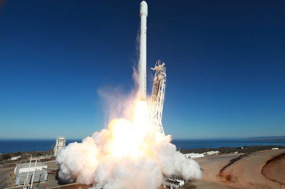 The upgraded Falcon 9 rocket lifted off from Vandenberg Air Force Base on a successful demonstration mission to deliver the CASSIOPE satellite to orbit. Launch took place on Sept. 29, 2013.
