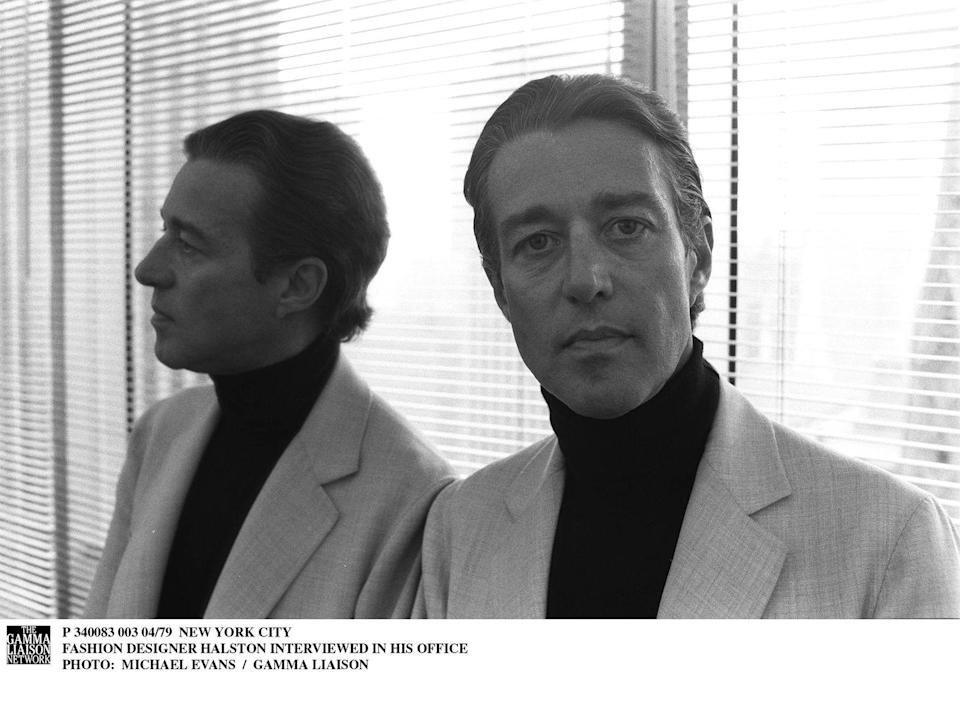 <p>This portrait of the iconic American fashion designer was taken in his office in Olympic Tower.</p>