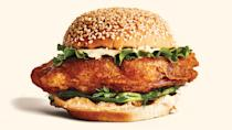 """""""The fried fish sandwich is really having a moment and I have to say I am completely here for it. That's why on Memorial Day I'll be cooking up Chris Morocco's fried fish sandwich with cucumbers and tartar sauce. Toasted buns, creamy tartar, and perfectly crispy fish is really something I can't pass up on this long weekend."""" <em>—June Kim, vice president digital video programming</em> <a href=""""https://www.bonappetit.com/recipe/fried-fish-sandwiches-with-cucumbers-and-tartar-sauce?mbid=synd_yahoo_rss"""" rel=""""nofollow noopener"""" target=""""_blank"""" data-ylk=""""slk:See recipe."""" class=""""link rapid-noclick-resp"""">See recipe.</a>"""