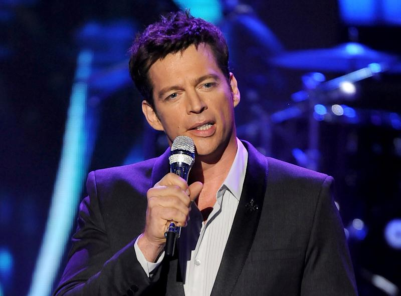 "FILE - In this May 2, 2013 file photo originally released by Fox, singer Harry Connick Jr. performs onstage at FOX's ""American Idol"" Season 12 Top 4 To 3 Live Elimination Show in Los Angeles. Fox announced Tuesday, Sept. 3, 2013 that Connick, along with Jennifer Lopez and Keith Urban will be judges on the upcoming season of ""American Idol."" (AP Photo/Fox, Frank Micelotta, File)"