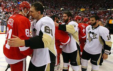 The Red Wings and Penguins squared off for the Stanley Cup in 2008 and '09, but it's very rare for teams to make it to the final in consecutive seasons
