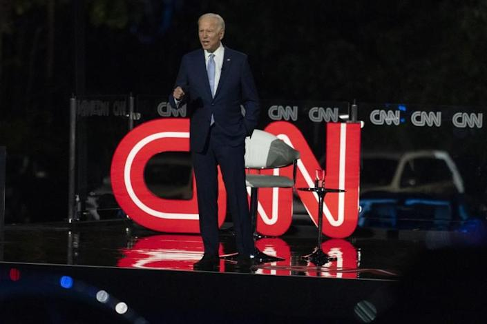 Democratic presidential candidate former Vice President Joe Biden participates in a CNN town hall