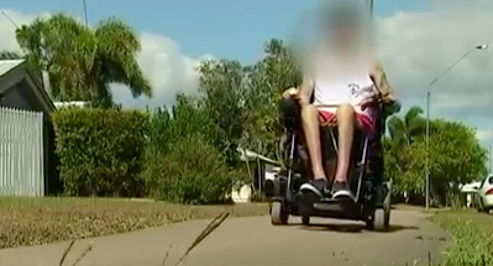Quadriplegic man Dylan was allegedly attacked in Townsville by two men who stole his wallet. Source: 7 News