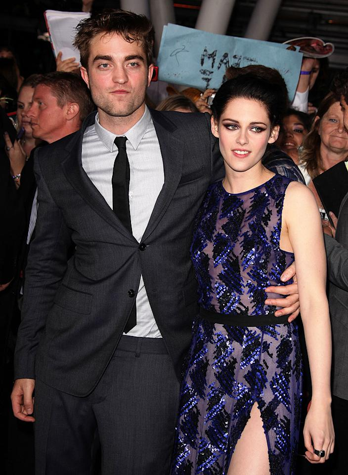"""""""Twilight"""" fans were crushed when reports surfaced that the franchise's star Kristen Stewart cheated on her leading man and real-life boyfriend Robert Pattinson. Photos released by <em>Us Weekly</em> in late July showed her getting cozy with her married """"Snow White and the Huntsman"""" director Rupert Sanders. Within a day of the photos hitting the Internet, the often stoic Stewart admitted to cheating in a now famous <a href=""""http://omg.yahoo.com/news/kristen-stewart-issues-public-apology-to-robert-pattinson-after-cheating-with-married-director.html"""">emotional statement</a> apologizing to Pattinson. In the past month, RPattz has indicated that he's through with Stewart for good, even reportedly putting the L.A. home he shared with her on the market. (11/14/2011) <br><div style=""""display:none;"""" class=""""skype_pnh_menu_container""""><div class=""""skype_pnh_menu_click2call""""><a class=""""skype_pnh_menu_click2call_action"""">Call</a></div><div class=""""skype_pnh_menu_click2sms""""><a class=""""skype_pnh_menu_click2sms_action"""">Send SMS</a></div><div class=""""skype_pnh_menu_add2skype""""><a class=""""skype_pnh_menu_add2skype_text"""">Add to Skype</a></div><div class=""""skype_pnh_menu_toll_info""""><span class=""""skype_pnh_menu_toll_callcredit"""">You'll need Skype Credit</span><span class=""""skype_pnh_menu_toll_free"""">Free via Skype</span></div></div>"""