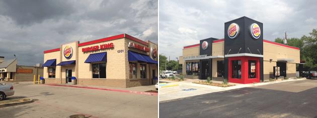 Burger King restaurant exteriors