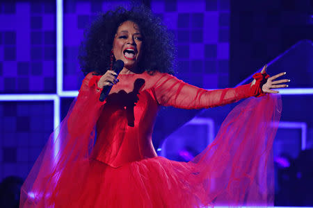61st Grammy Awards - Show - Los Angeles, California, U.S., February 10, 2019 - Diana Ross performs. REUTERS/Mike Blake