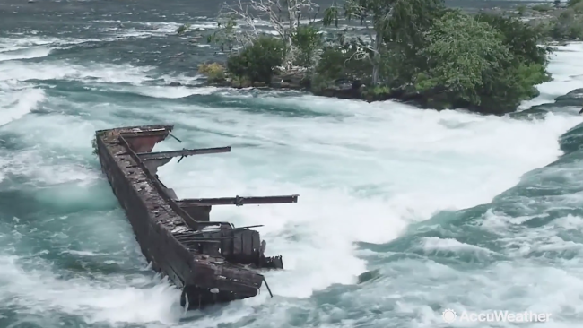 Halloween storm dislodges vessel abandoned for 101 years in Niagara Falls