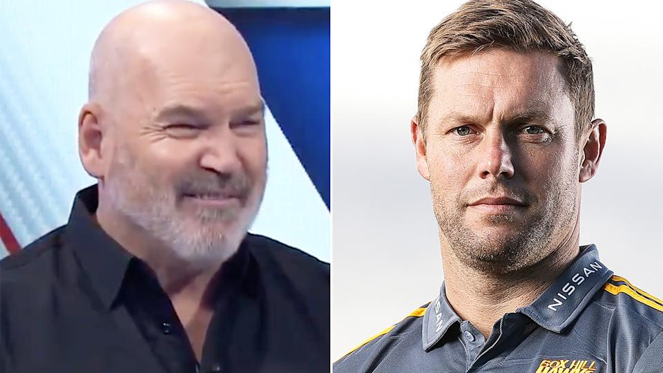 Jason Dunstall, left, is unsure whether Sam Mitchell, right, is the right man for Hawthorn's coaching job.