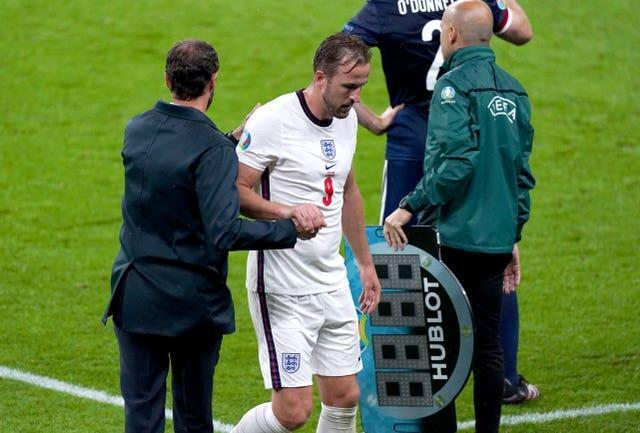 Kane was taken off for the second Euro 2020 fixture in a row.