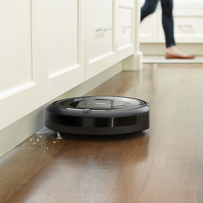 """Ideal for busy homes with pets and kids running around, the iRobot sweeps up dust and allergens. $350, Bed Bath & Beyond. <a href=""""https://www.bedbathandbeyond.com/store/product/irobot-reg-roomba-reg-e5-5150-wi-fi-reg-connected-robot-vacuum/5357444"""" rel=""""nofollow noopener"""" target=""""_blank"""" data-ylk=""""slk:Get it now!"""" class=""""link rapid-noclick-resp"""">Get it now!</a>"""