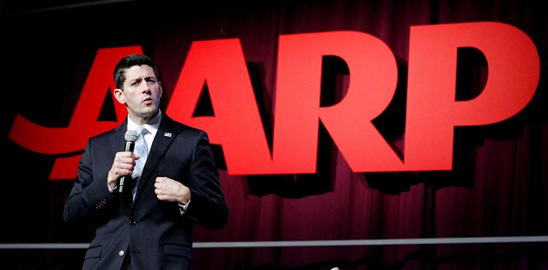 FILE - This Sept. 21, 2012 file photo shows Republican vice presidential candidate, Rep. Paul Ryan, R-Wis. speaking at the AARP convention in New Orleans. Get in line, Medicare and Social Security. Seniors, like just about everyone else, have money on their minds. Seniors vote at a higher rate than any other age group, so they'll be a deciding factor in the presidential election. Seniors backed the Republican candidate in the last two presidential elections. (AP Photo/Bill Haber, File)