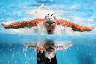 """<p>To avoid chafing, <a href=""""https://www.thetalko.com/15-rules-we-didnt-know-olympic-athletes-must-follow/"""" rel=""""nofollow noopener"""" target=""""_blank"""" data-ylk=""""slk:swimmers"""" class=""""link rapid-noclick-resp"""">swimmers </a>can grease their elbows and inner thighs, but they can't use too much. </p>"""