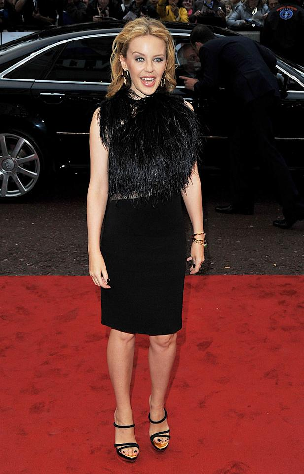 """Dear Kylie Minogue, a murdered Muppet does not make for a beautiful blouse. Jon Furniss/<a href=""""http://www.wireimage.com"""" target=""""new"""">WireImage.com</a> - September 15, 2010"""