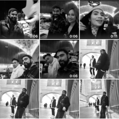 Yuna posted a collage of photos from when they saw each other last in New York