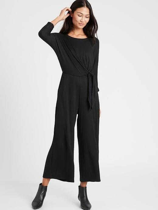 <p>Your full outfit is sorted with this on-sale <span>Banana Republic Cozy Ribbed Dolman-Sleeve Jumpsuit</span> ($60, originally $120).</p>