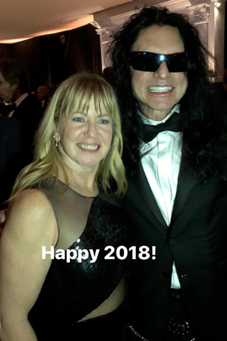 Tonya Harding and Tommy Wiseau together at the Golden Globes.