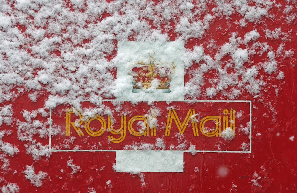 Snow on a Royal Mail van in Glasgow, as Britain saw one of the coldest nights of the year with temperatures falling to minus 12.3C at Loch Glascarnoch in the Scottish Highlands.