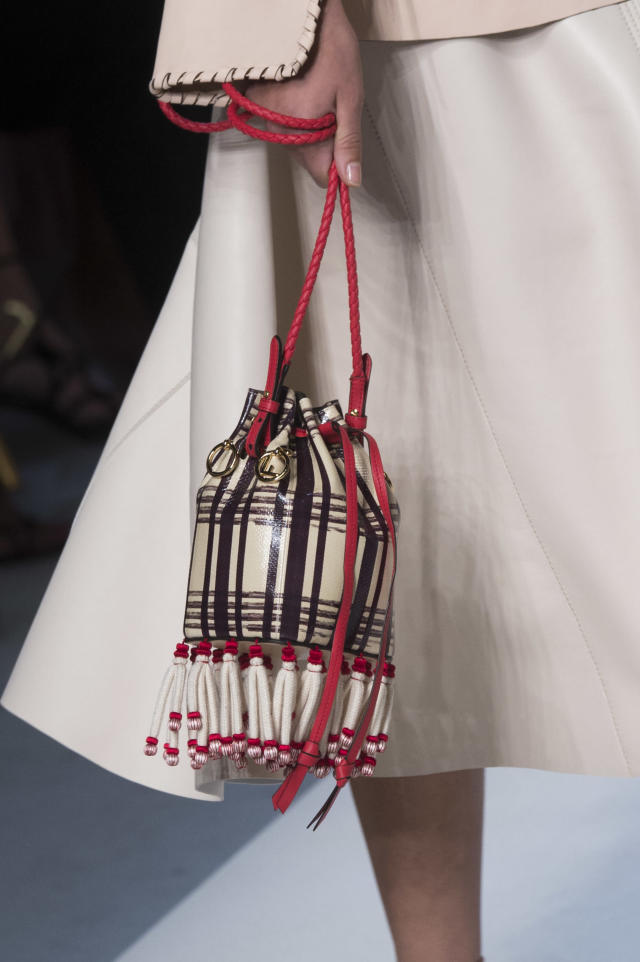 <p><i>Fringe bucket bag from the SS18 Fendi collection. (Photo: ImaxTree) </i></p>
