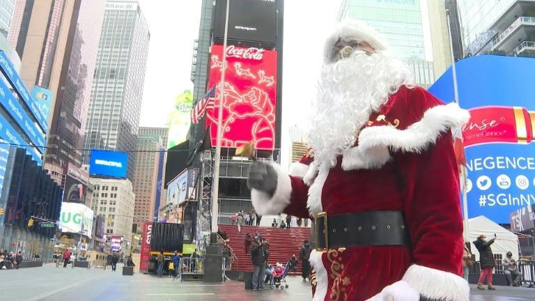 No tourists in the streets of New York make for a sour Christmas for Santa