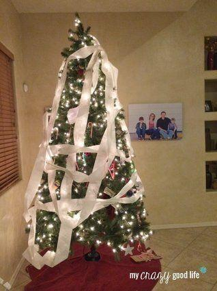 "<p>Sometimes those elves are kind of naughty -- for example, by adding some uncalled-for decorations to your Christmas tree.</p> <p>Source: <a href=""http://mycrazygoodlife.com/wp-content/uploads/2013/12/TPTree.jpg"" target=""_blank"">My Crazy Good Life</a></p>"