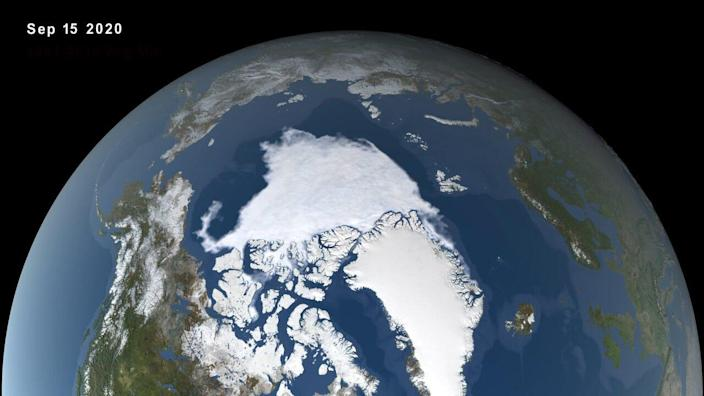 In the Arctic Ocean, sea ice reached its minimum extent of 1.44 million square miles on Sept. 15 - the second-lowest extent since modern recordkeeping began.