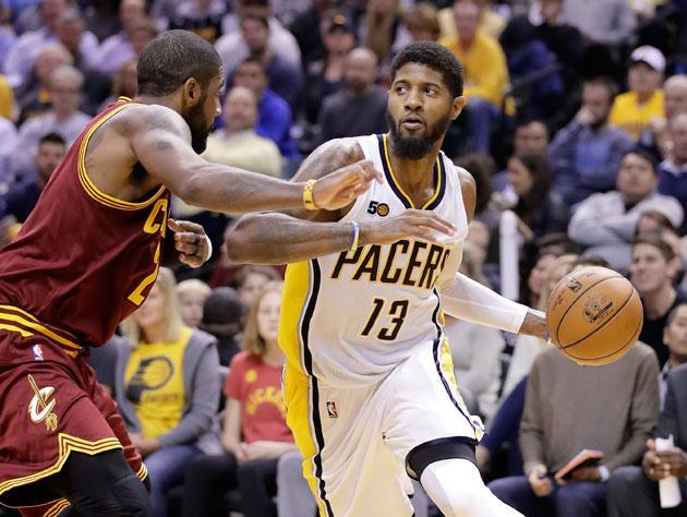 "<a class=""link rapid-noclick-resp"" href=""/nba/players/4725/"" data-ylk=""slk:Paul George"">Paul George</a> takes it to the line, sometimes. (Getty Images)"